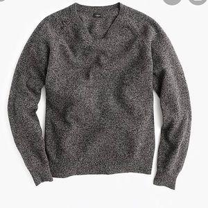 J. Crew Men's Slim V Neck 100% Wool Gray Sweater